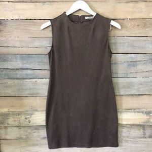 ⭐️CHLOE K | Faux Suede Charcoal Gray Mini Dress M